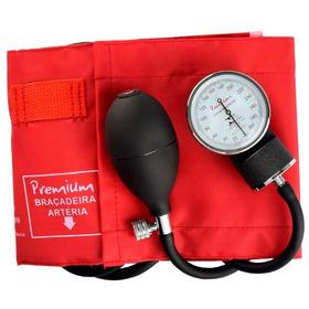 Aparelho Medidor De Pressão Esfigmomanômetro Premium Vermelh