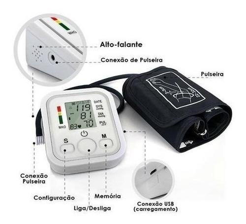 aparelho medidor de pressão digital automático braço b699