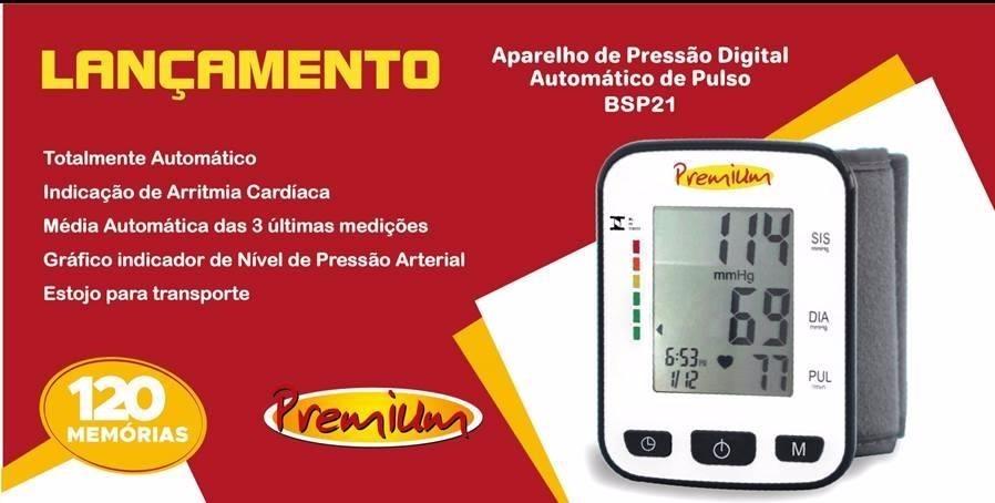 4db1fd165 aparelho medidor de pressão digital pulso premium - bsp21. Carregando zoom.