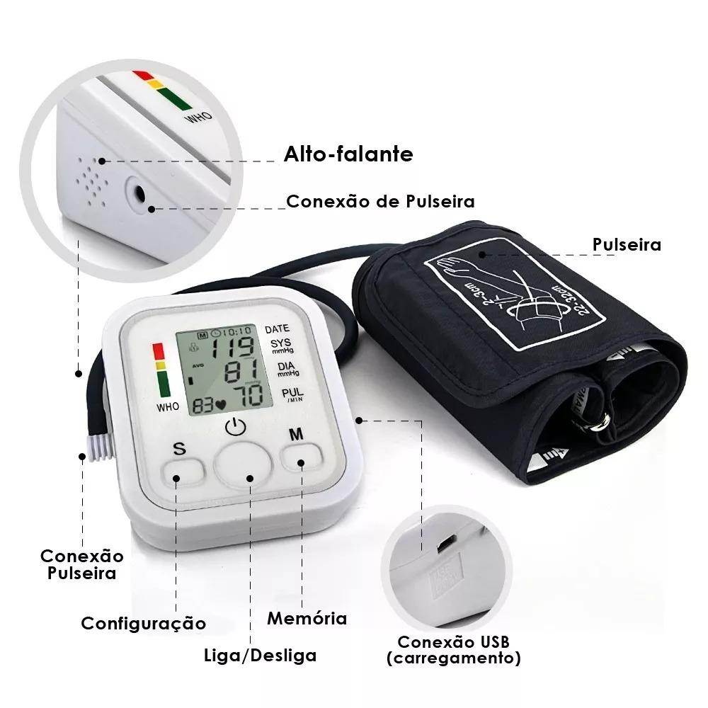 c44fa2cbf aparelho medidor pressão digital braço + batimento cardíaco. Carregando  zoom.