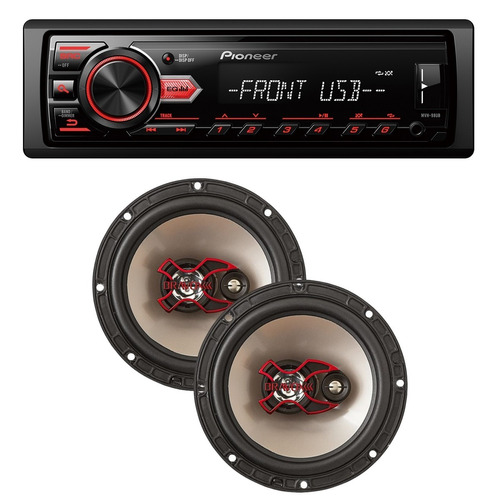 aparelho mp3 media receive radio fm usb + falante bravox 06