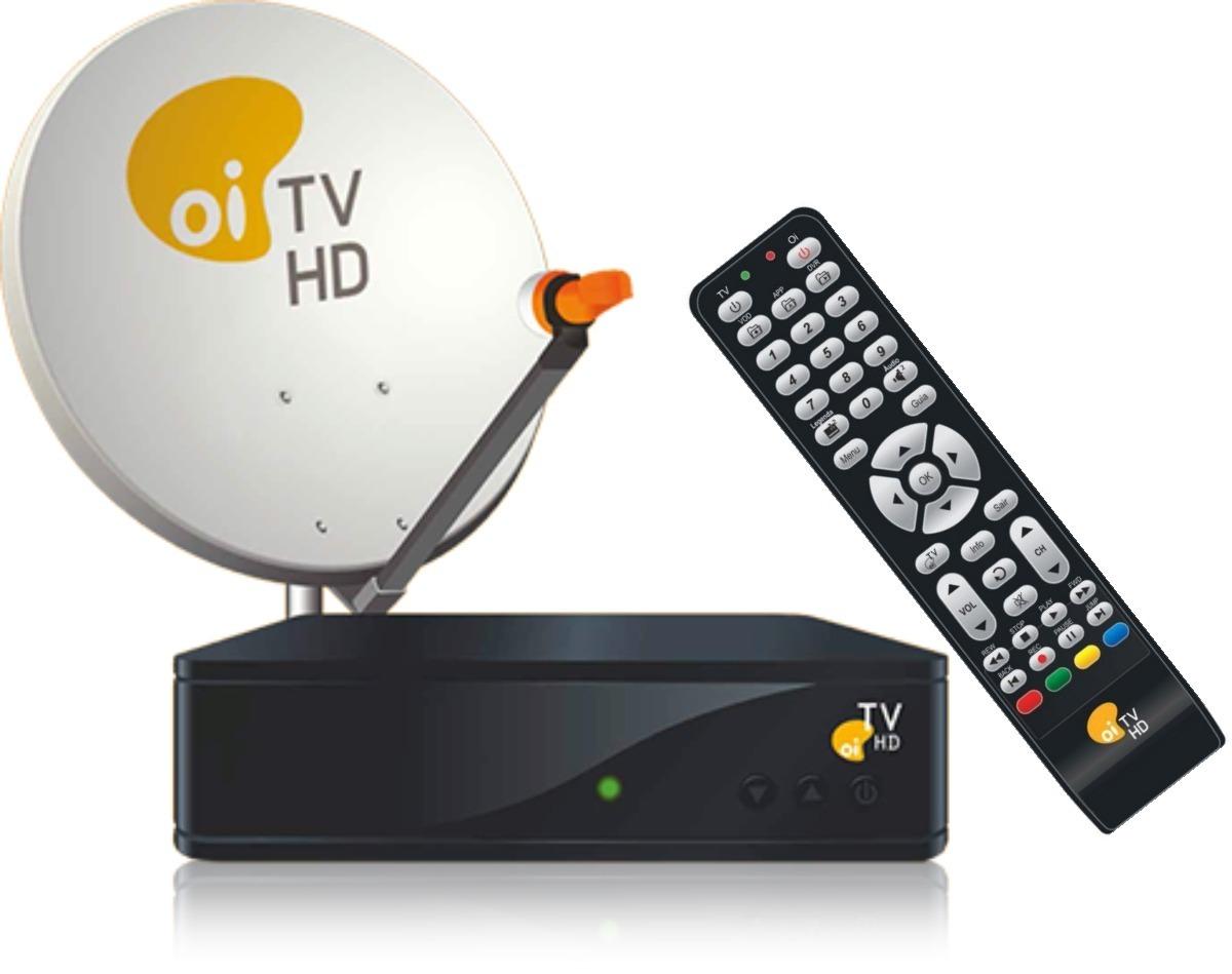 c857498dee4 Aparelho Oi Tv Livre Em Hd Antena Receptor Kit Completo - R  599
