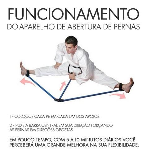 aparelho para aumentar a abertura de pernas (espacate) capoeira kung fu judô jiu-jitsu kickboxing boxe tkd mma ufc