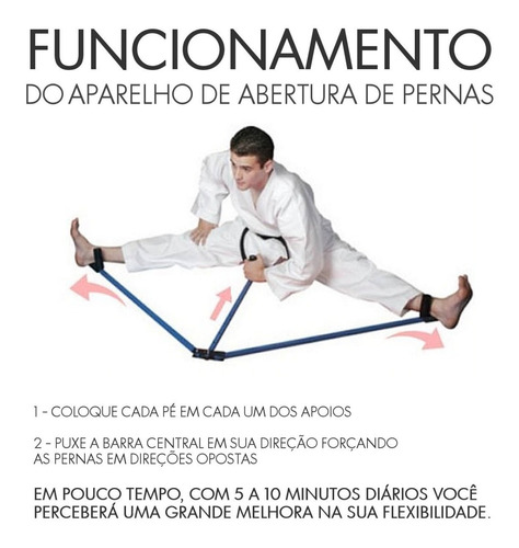 aparelho para aumentar a abertura e flexibilidade das pernas (espacate lateral) taekwondo capoeira kickboxing mma e etc