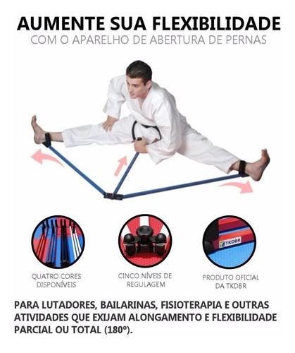 aparelho para aumento da abertura e da flexibilidade das pernas (espacate) para fisioterapia, dança artes marciais mma
