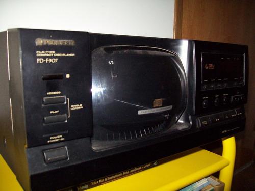 aparelho pionner para 100 cds modelo pd f 907 usado.