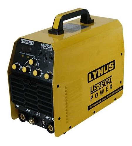 aparelho solda inversor tig/eletrodo monof. lis-250al lynus