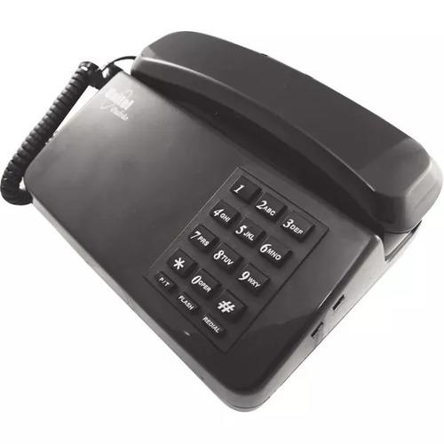 aparelho telefone fixo unitel padrao c/ch grafite/frete grat
