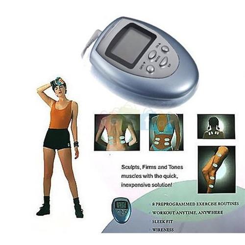 aparelho tens digital fisioterapia massagem 4 eletrodo top