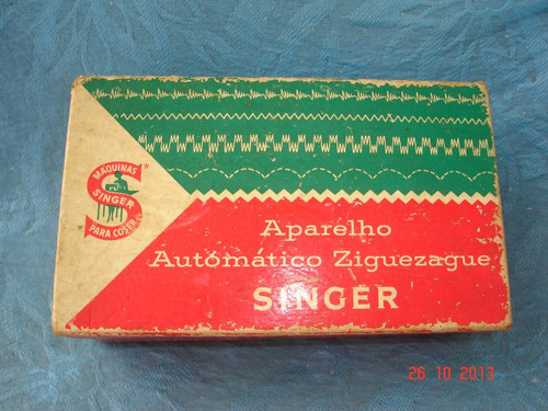 aparelho zigue-zag automatico da singer - perfeito na caixa