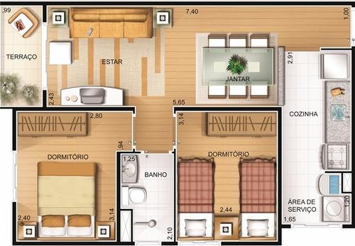 apart 2 dorm 1 vaga 50 m² - guainazes- aceita carro entrada