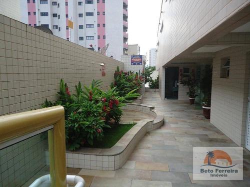 apartamento 02 dormitórios c/suíte novo,residencial à venda, campo da aviação, praia grande. - ap0158