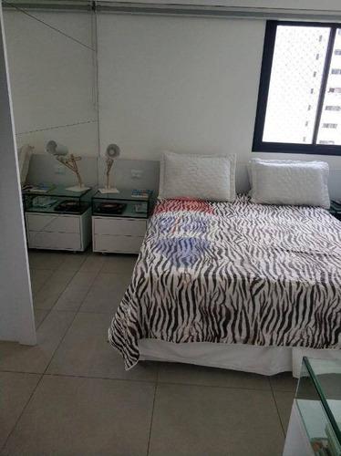 apartamento 02 quartos - madalena - com armários - ap0474