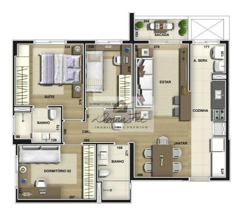 apartamento 03 dorm. - bairro madureira - ap300563