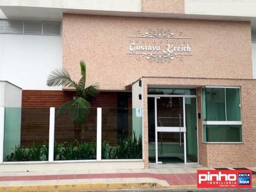apartamento 03 dormitórios (suíte), residencial gustavo kreich, vende, bairro centro, biguaçu, sc - ap01141