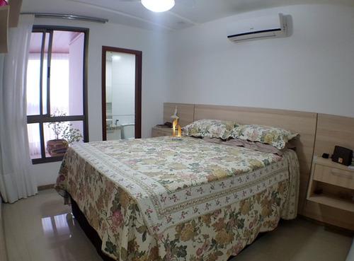 apartamento 04 quartos montado e decorado em praia da costa. - 18172