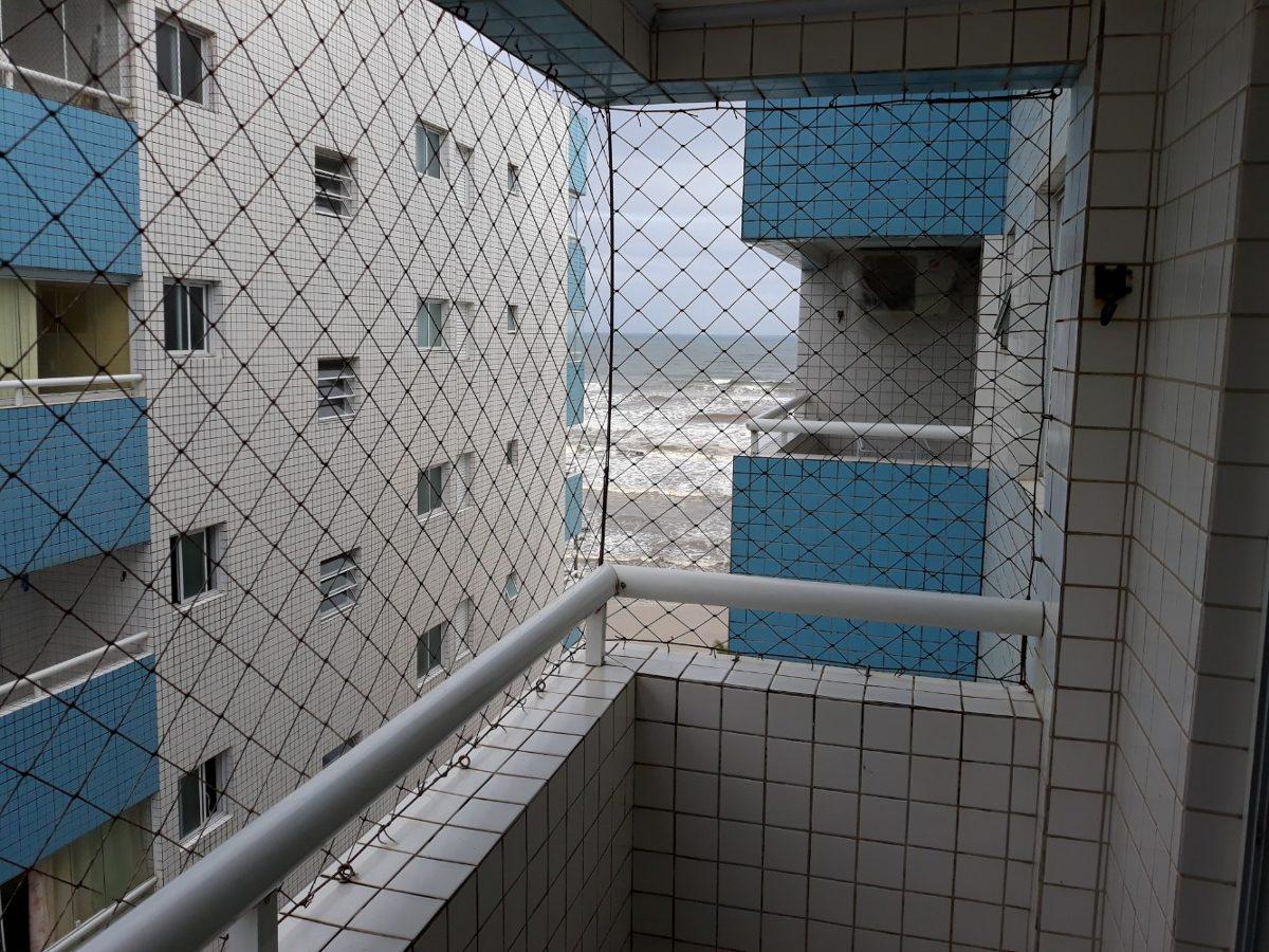 apartamento 1 dorm.c/sacada -predio frente ao mar - mongaguá