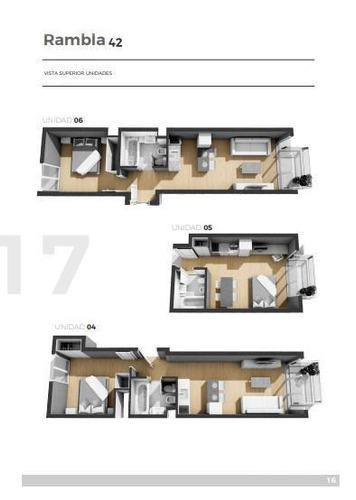 apartamento, 1 dormitorio, 1 baño, sobre rambla