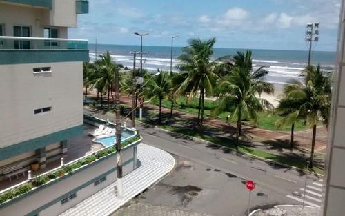 apartamento 1 dormitório com elevador e mobiliá frente ao mar