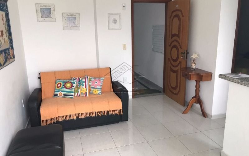 apartamento 1 dormitório com suíte vista mar na vila caiçara em praia grande mobiliado