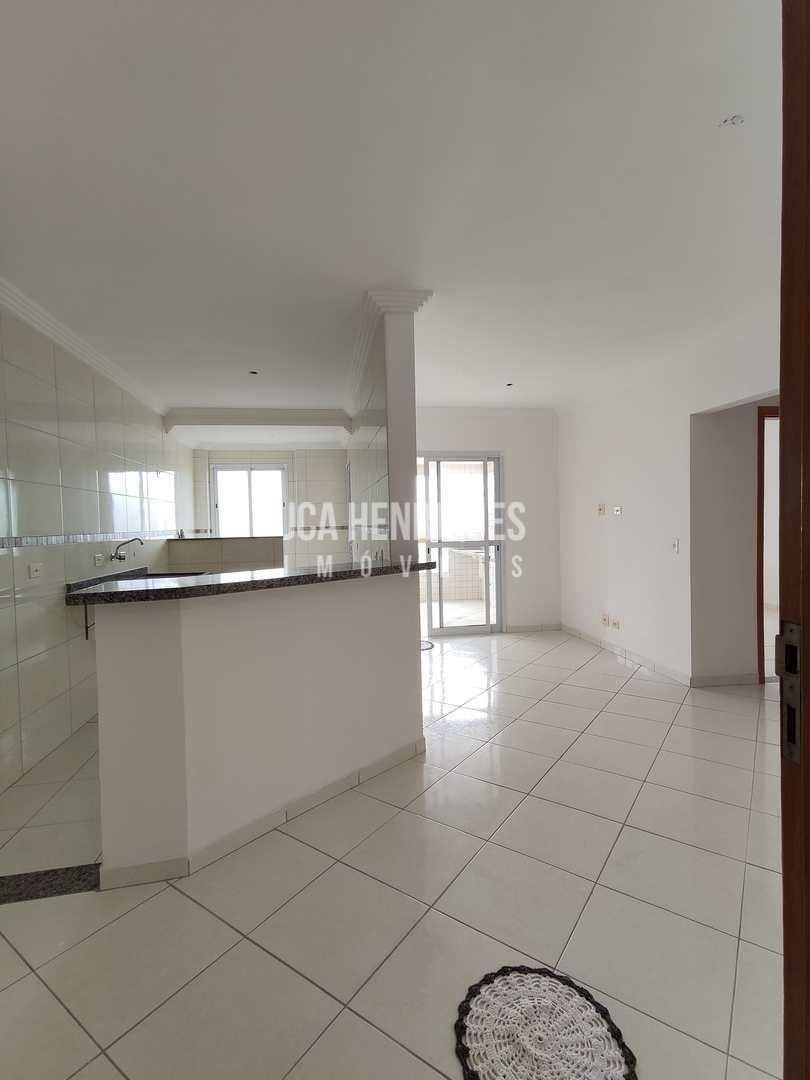 apartamento 1 dormitório com vista de frente mar. - v782