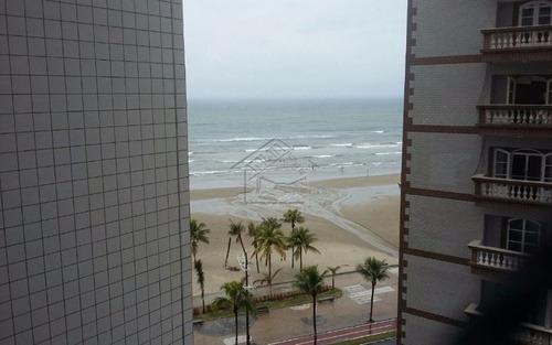 apartamento 1 dormitório em frente ao mar na ocian em praia grande