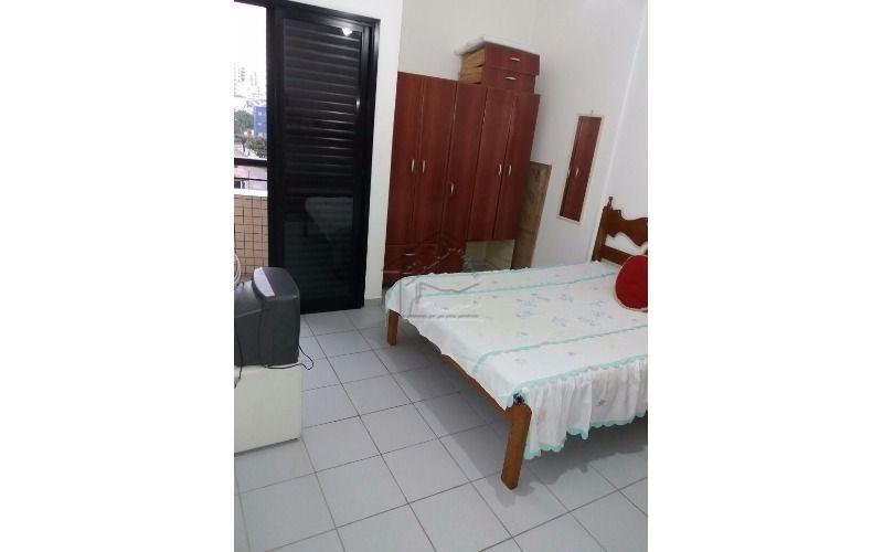 apartamento 1 dormitório mobiliado na guilhermina em praia grande.