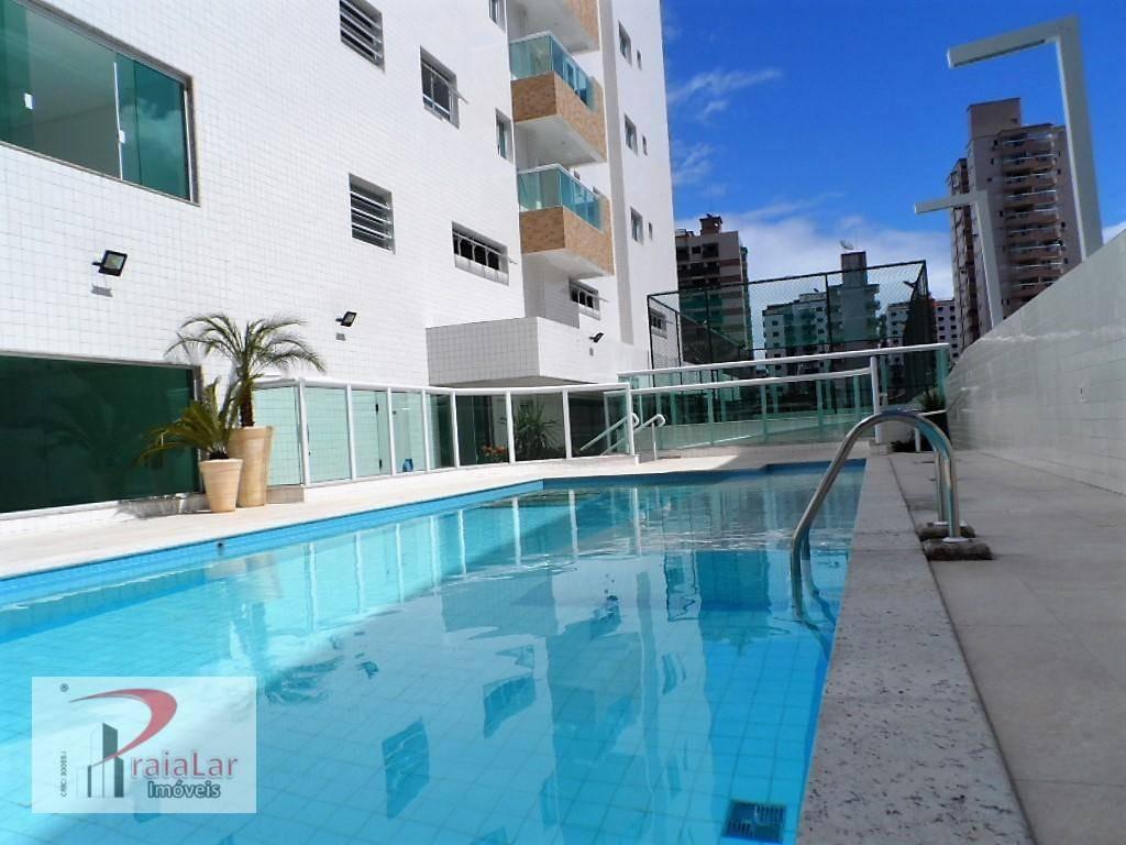 apartamento 1 dormitório móveis planejados sacada gourmet fechada no vidro lazer total à venda, 46 m² por r$ 185.000 - tupi - praia grande/sp - ap1824