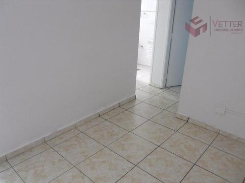 apartamento 1 dormitório para locação, gonzaguinha, são vicente - ap0047. - ap0047