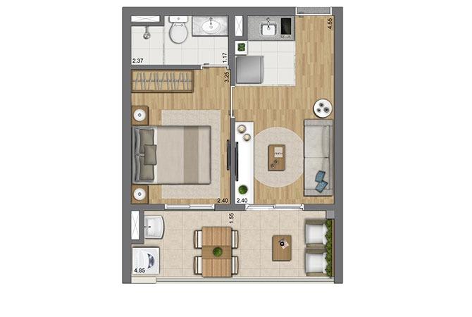 apartamento 1 dormitorio pronto mooca próximo ao centro
