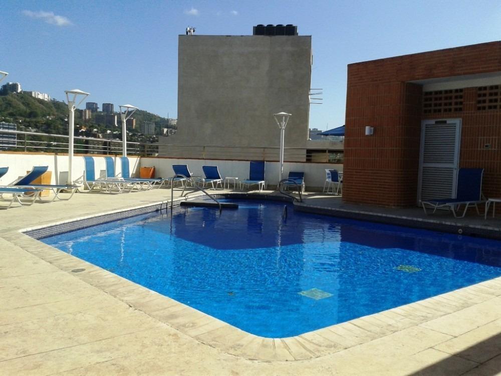 apartamento 1 hab, 2 baños, 2 puestos, amoblado, con terraza