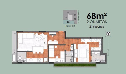 apartamento 1 quarto à venda, 1 quarto(s), belo horizonte/mg - 10068