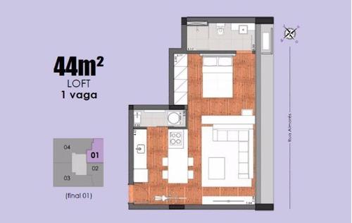apartamento 1 quarto à venda, 1 quarto(s), belo horizonte/mg - 5245