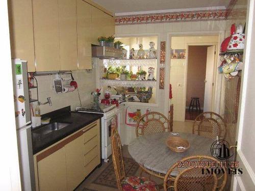 apartamento 120m² 3 dorms 1 vaga mobiliado - ap0376