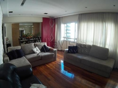 apartamento 130m², 3 dormitórios, 2 suítes, 3 vagas, bairro jardim, santo andré. - ap0929