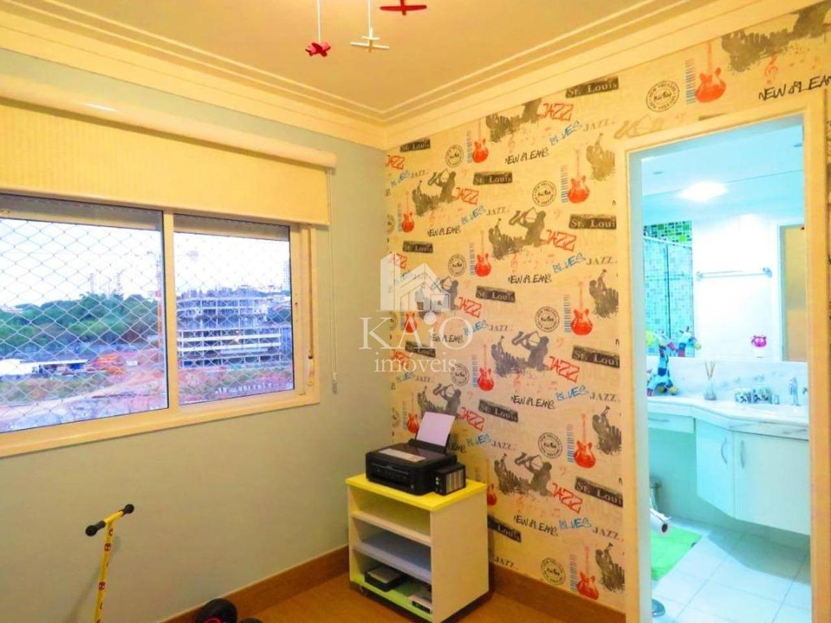 apartamento 132m² 3 suítes, mobiliado, churrasqueira, 2 vgs