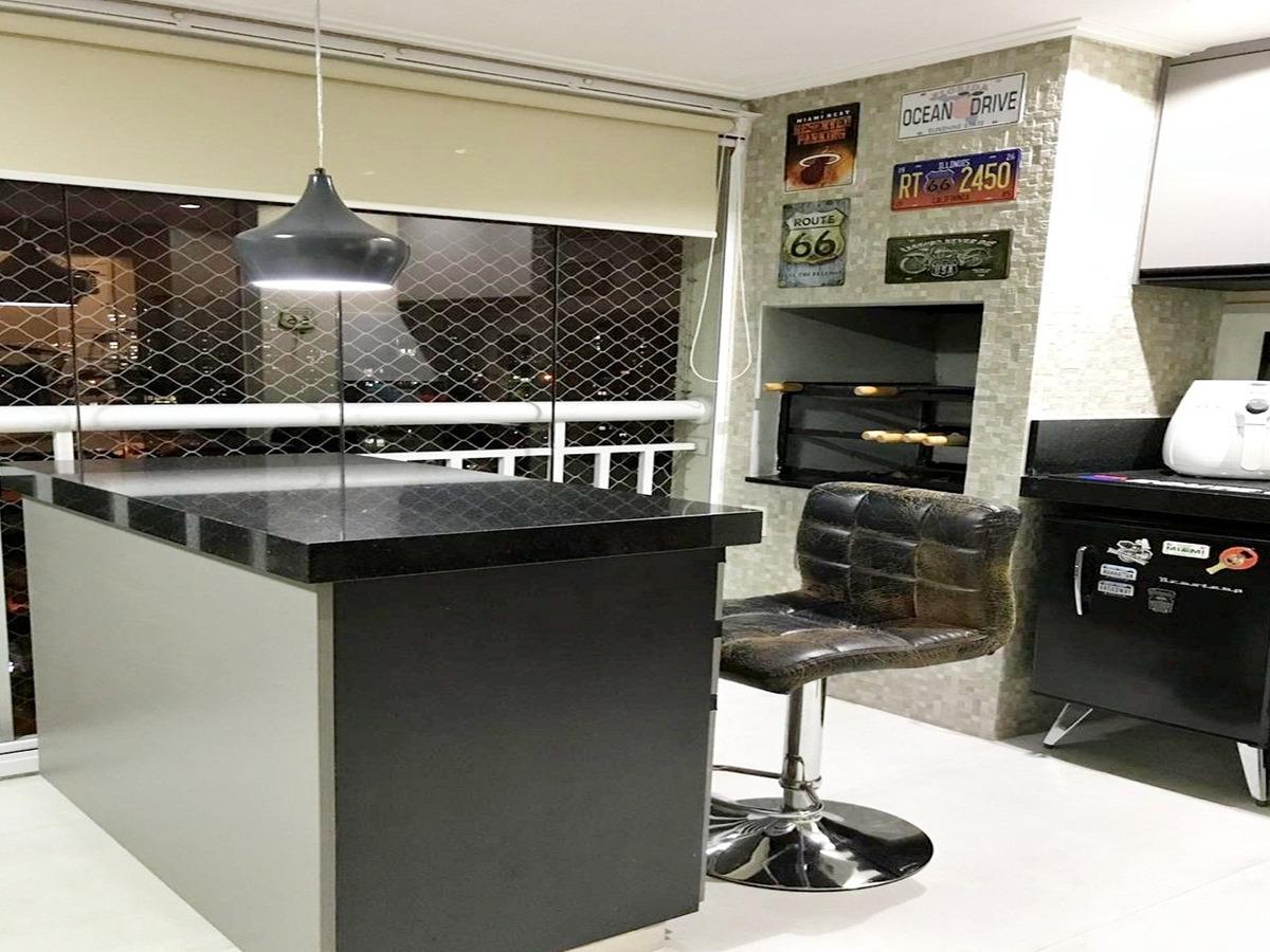 apartamento 132m² 3 suítes varanda gourmet 2 vagas ap1353