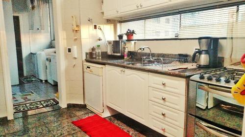 apartamento 190m², 4 dormitórios, 3 suítes, 3 vagas, hall privativo, 1 apartamento por andar, bairro jardim, santo andré. - ap0347
