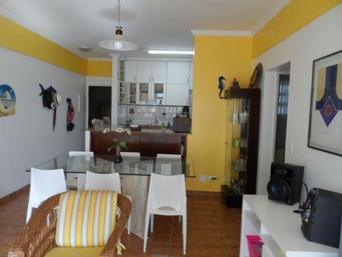 apartamento 2 dormitórios + 1 reversível - astúrias - guarujá - ap0844
