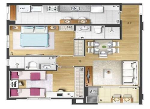 apartamento 2 dormitórios 1 suite 1 vaga são caetano sul