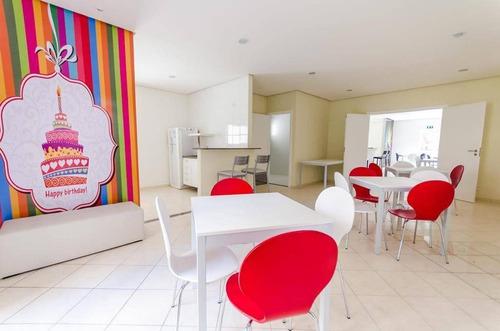 apartamento 2 dormitórios (1 suíte) shopping maia guarulhos lazer completo - ap1187