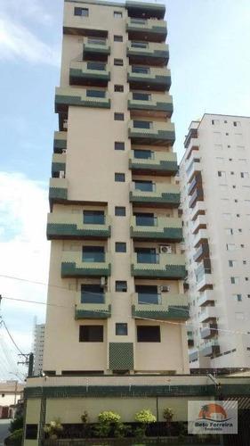 apartamento 2 dormitórios, 1 vaga e piscina na guilhermina em praia grande - ap0151
