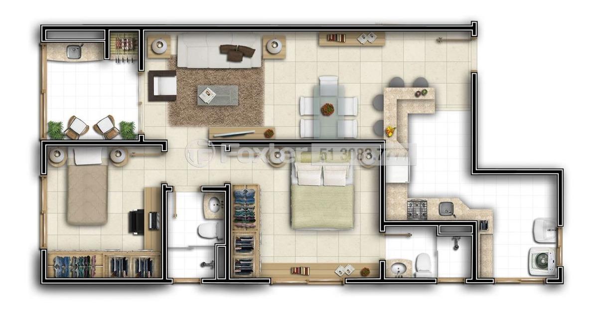 apartamento, 2 dormitórios, 72.5 m², nossa senhora das graças - 191981