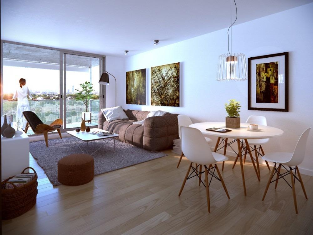apartamento 2 dormitorios al frente con terraza