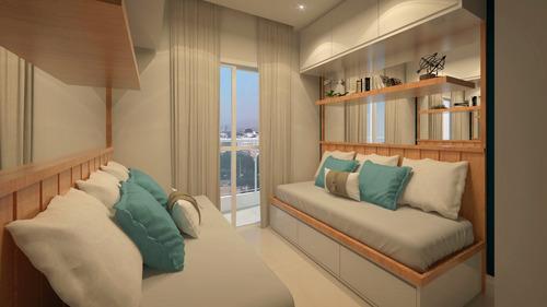 apartamento 2 dormitórios com suíte, waves g-land  - 042