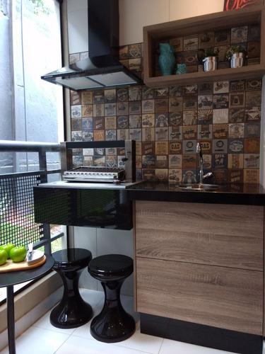 apartamento 2 dormitórios com terraço opção de churrasqueira