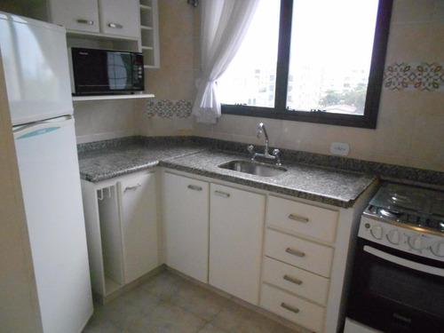 apartamento 2 dormitórios com vista mar - tombo - guarujá - ap0959