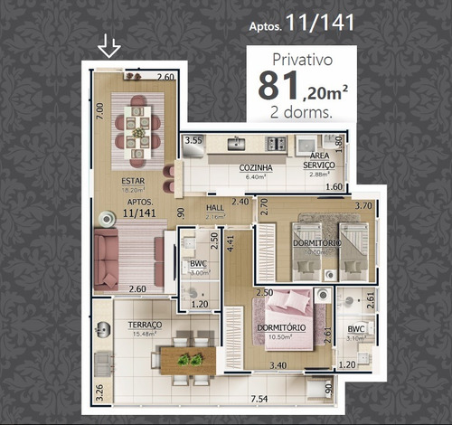 apartamento 2 dormitórios imperdível