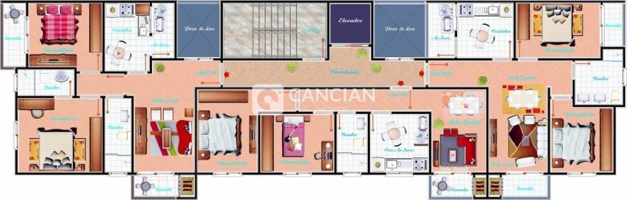 apartamento 2 dormitórios - nossa senhora de lourdes, santa maria / rio grande do sul - 4248