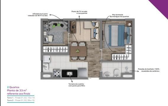 apartamento 2 dormitórios santo amaro á partir de 189 mil